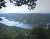 Click to enlarge photo of the Bear Mountain Bridge taken from Perkins Memorial Drive.