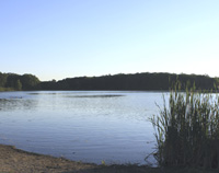 Click to enlarge photo of Lake Skannatati in Harriman State Park.