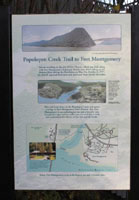 Click to enlarge photo of sign - Popolopen Creek Trail to Fort Montgomery
