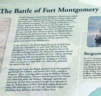 Click to enlarge sign about the Battle of  Fort Montgomery in the American Revolution