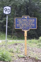 Click to enlarge sign The First Chain along the Hudson River.