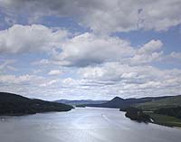 Click to enlarge photo of View of the Hudson River from Bear Mountain Bridge
